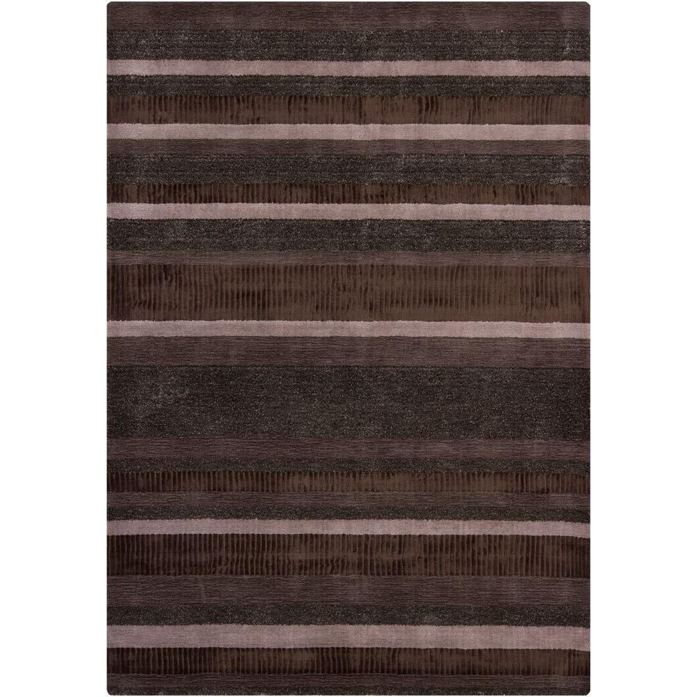 Chandra Amigo Brown 7 ft. 9 in. x 10 ft. 6 in. Indoor Area Rug