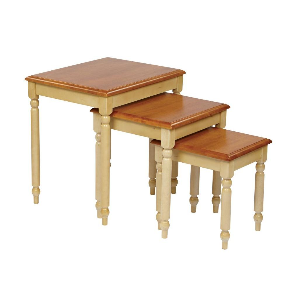 OSPdesigns Tan 3 Piece Nesting End Table CC19 The Home Depot