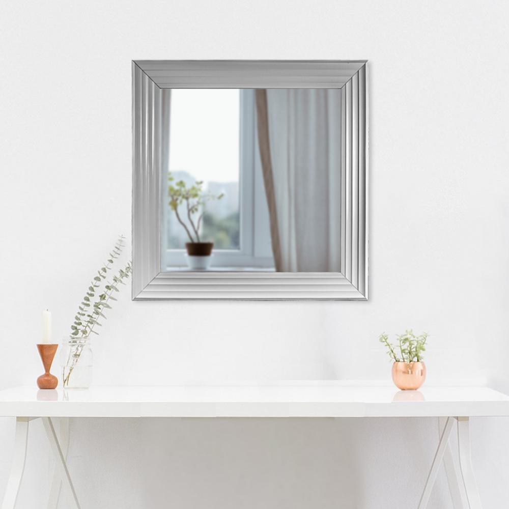 Everett Square White Vanity Mirror