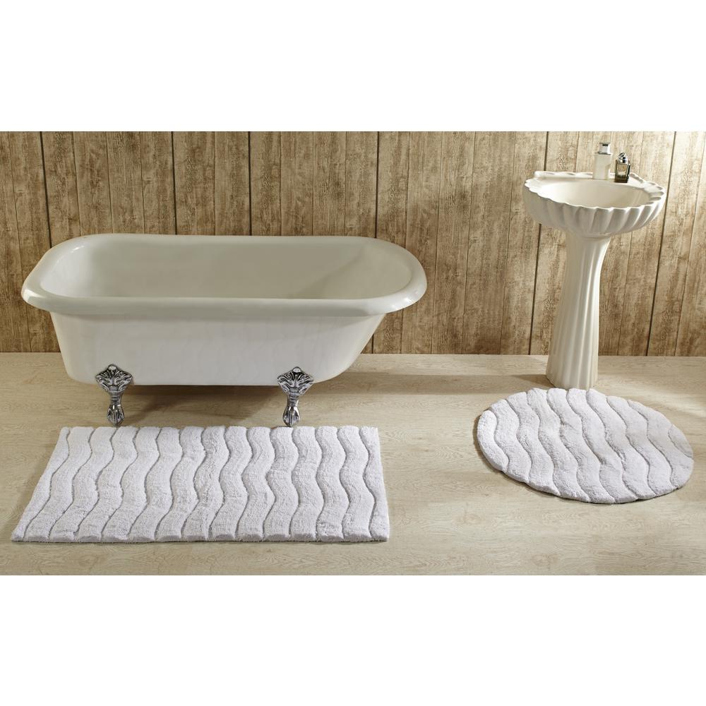 Better Trends Indulgence White 30 In Round Bath Rug