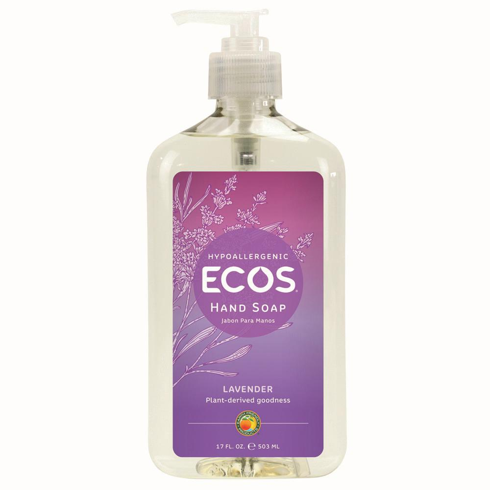ECOS ECOS 17 oz. Pump Bottle Lavender Scented Hand Soap, Clear