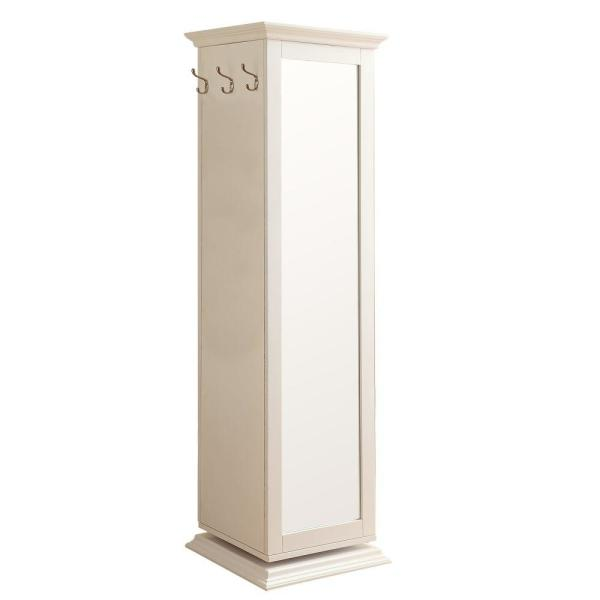 Casual Style White Wooden Accent Cabinet