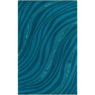 Wool Wool Blend Turquoise Area Rugs Rugs The Home Depot