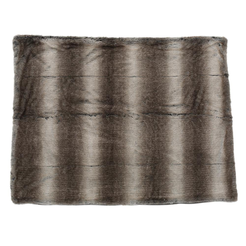 Noble House Adaline Ash White Fabric Throw Blanket