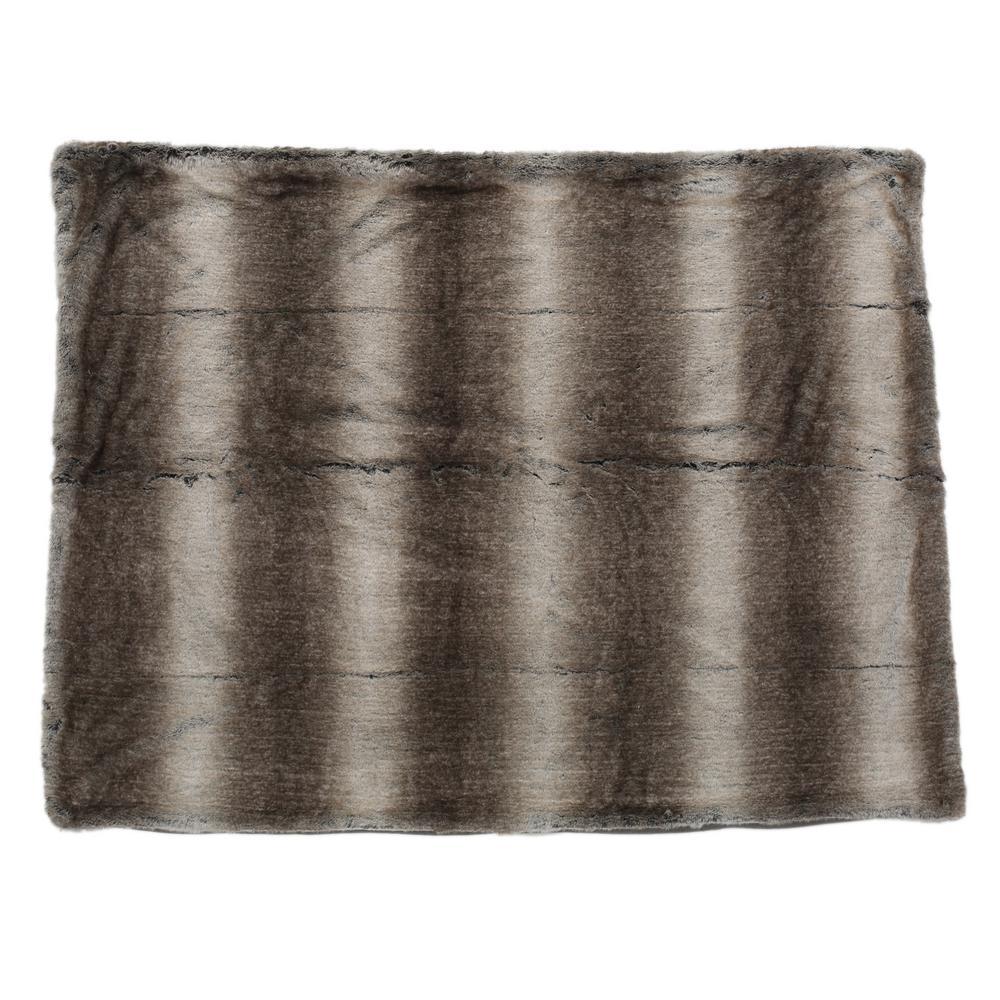 Adaline Ash White Fabric Throw Blanket