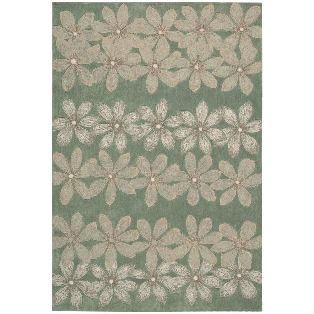 Nourison Overstock Spring Days Sage 7 ft. 3 in. x 9 ft. 3 in. Area Rug