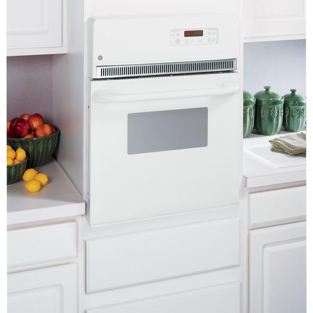 Ge 24 In Single Electric Wall Oven White Jrp20wjww The Home