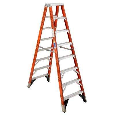 10 ft. Fiberglass Twin Step Ladder with 375 lb. Load Capacity Type IAA Duty Rating