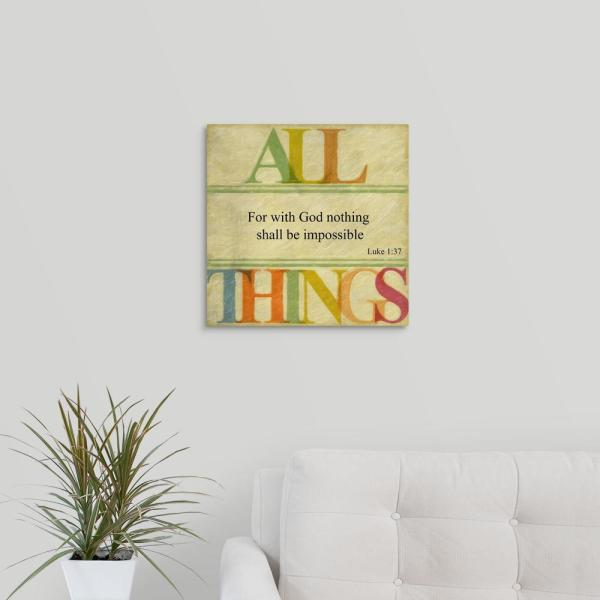 GreatBigCanvas ''All Things'' by Taylor Greene Canvas Wall Art 2453854_24_16x16