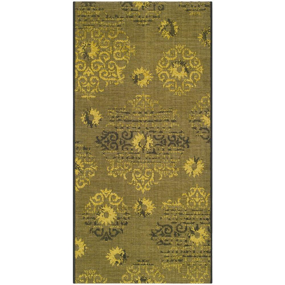 Safavieh Palazzo Black Green 3 Ft X 5 Area Rug