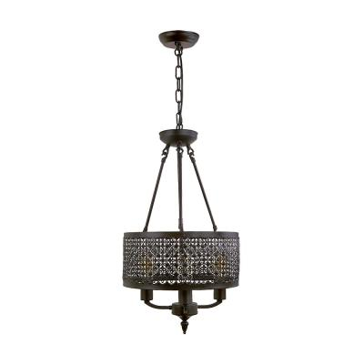 3-Light Bronze Chandelier