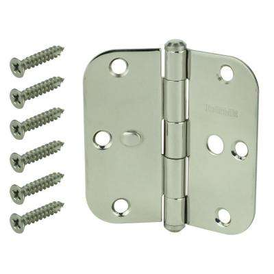 3-1/2 in. Stainless Steel 5/8 in. Radius Security Door Hinge