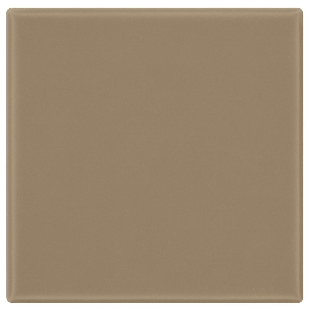 Matte Elemental Tan 6 in. x 6 in. Ceramic Wall Tile