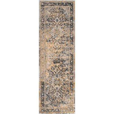 Persian Vintage Raylene Gold 2 ft. 8 in. x 8 ft. Runner Rug