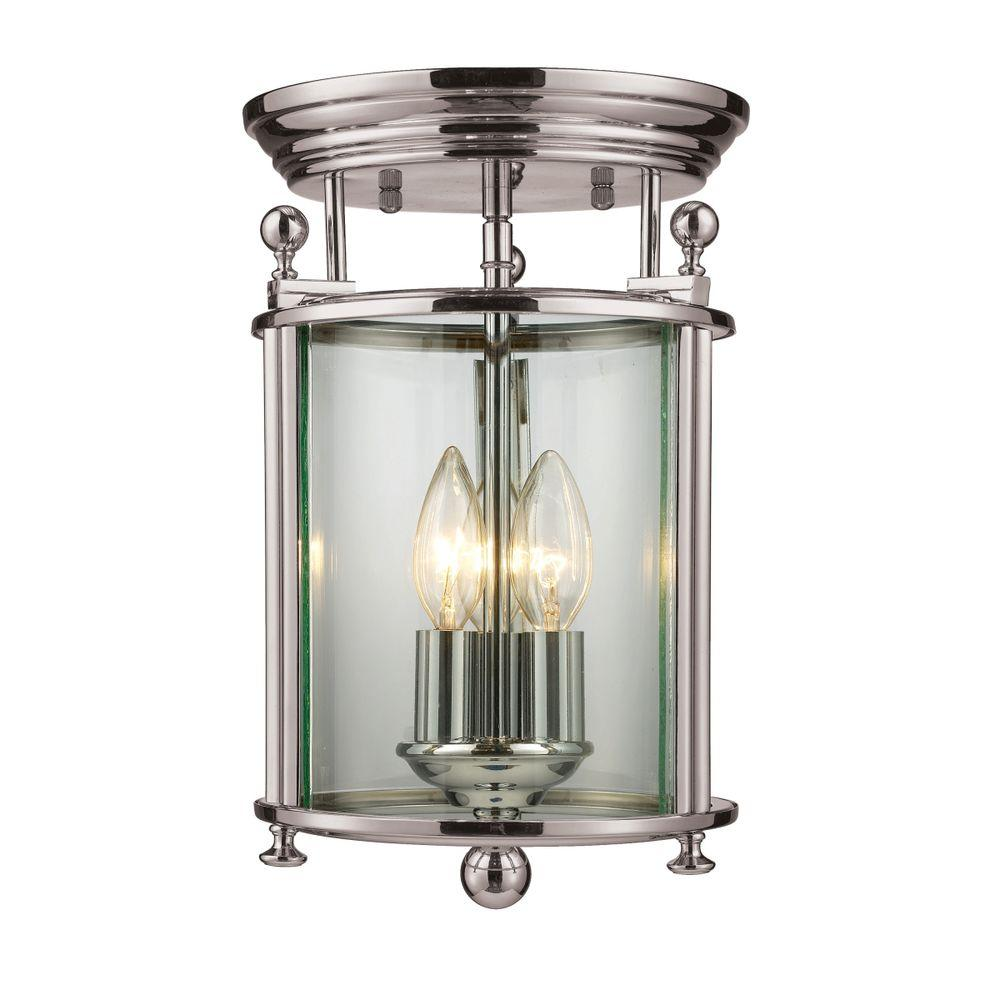 Filament Design Palace 3-Light Brushed Nickel Flushmount