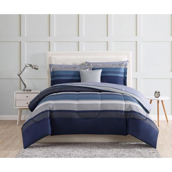 Style 212 Carlyle Blue Twin XL Bed in a Bag