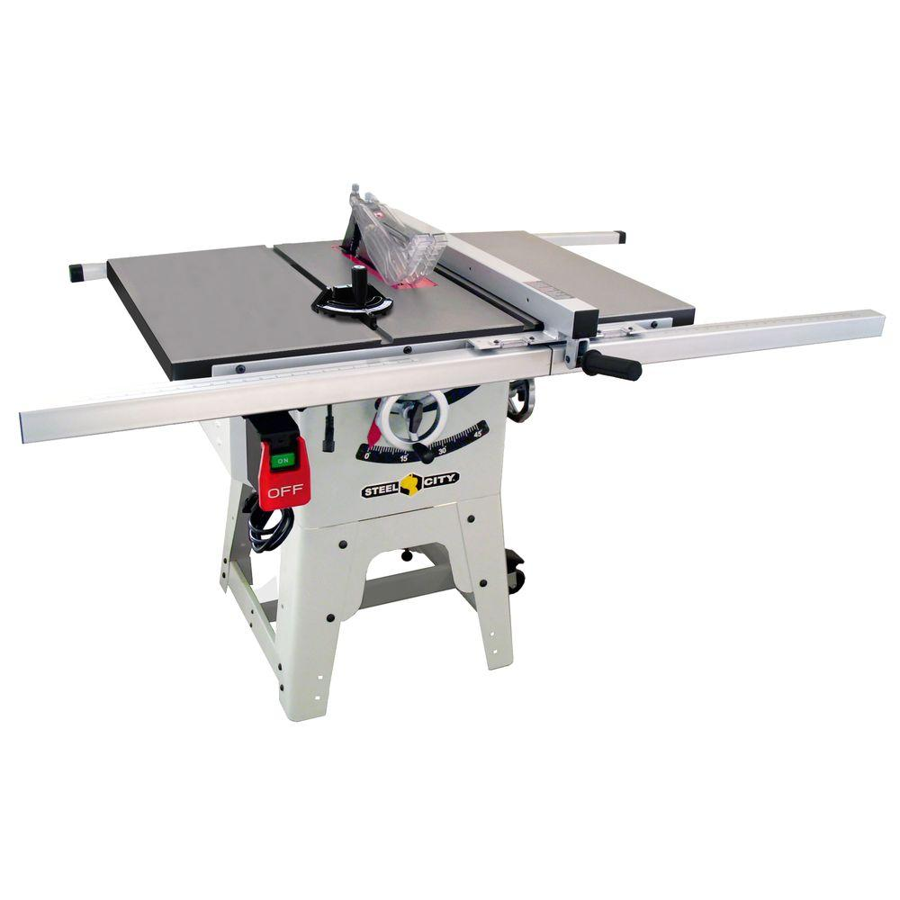 Steel City 10 in. Cast Iron Contractor Table Saw