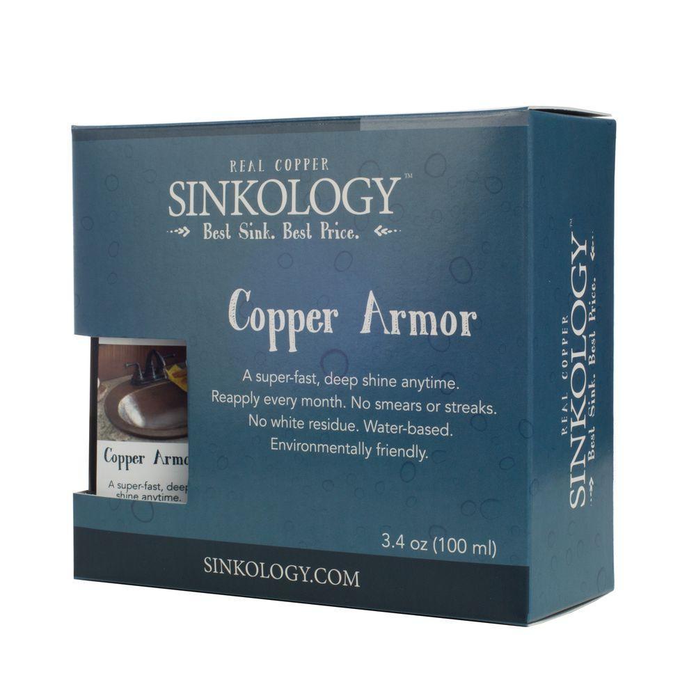 SINKOLOGY Copper Armor Care Kit, Spray Wax And Microfiber Cloth
