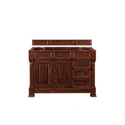 Brookfield 48 in. W Bathroom Single Vanity Cabinet Only in Warm Cherry