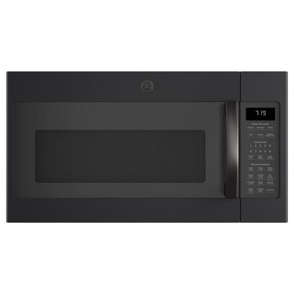 GE 1.9 cu. ft. Over the Range Microwave in Black Slate with Sensor Cooking, Fingerprint Resistant