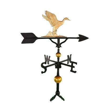 32 in. Deluxe Gold Duck Weathervane