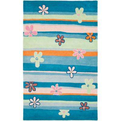 Kids Blue/Multi 6 ft. x 9 ft. Area Rug
