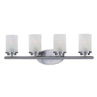 Corona 4-Light Satin Nickel Vanity Bath Light