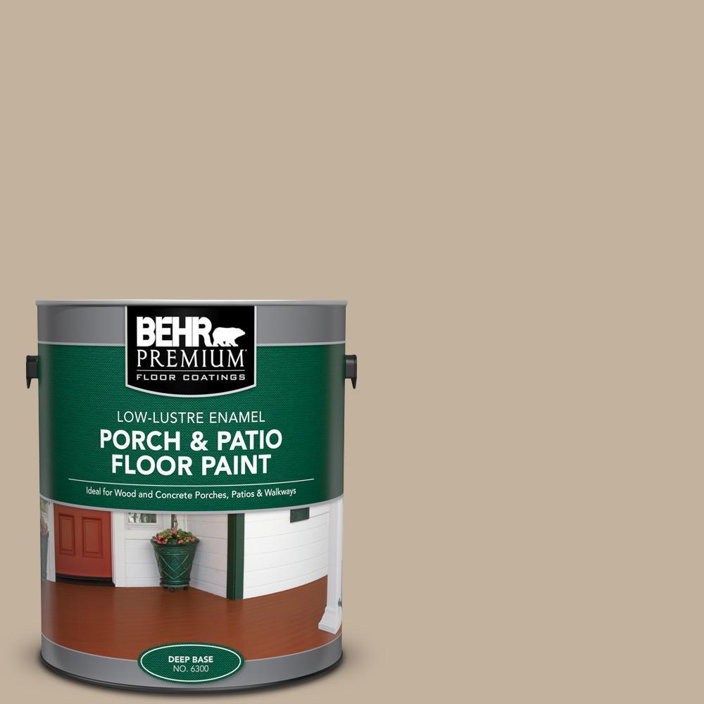 Behr Premium 1 Gal Bnc 03 Essential Brown Low Lustre Enamel Interior Exterior Porch And Patio Floor Paint 630001 The Home Depot