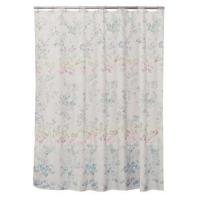 Ombre Leaves 72 in. Floral Shower Curtain