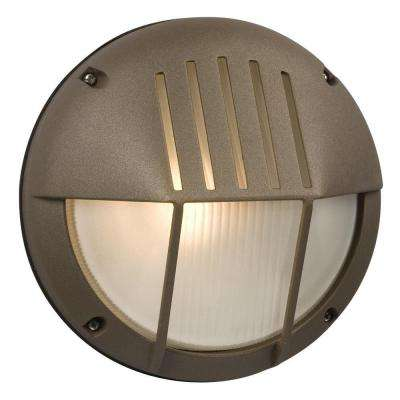 Negron 1-Light Outdoor Bronze Wall Light