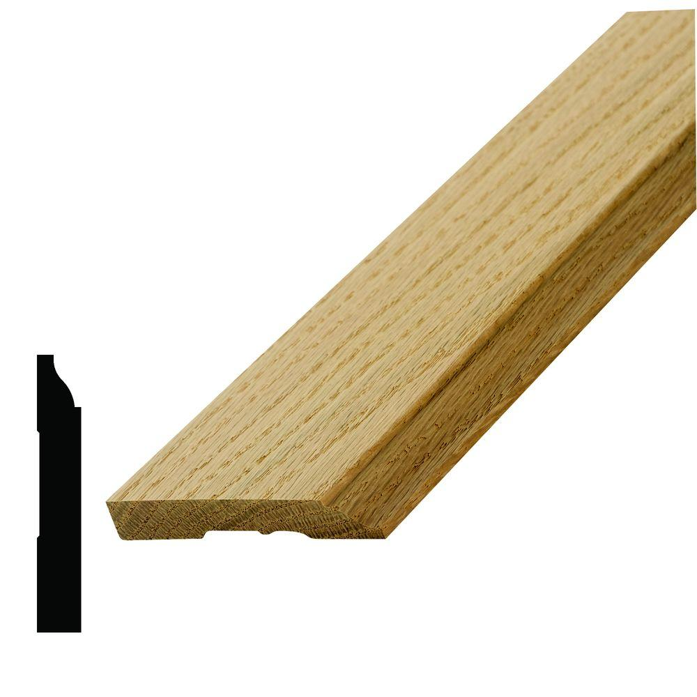 WM 623 1/2 in. x 3-1/4 in. Oak Base Moulding