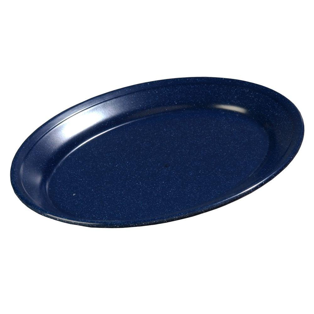 8.5 in. x 12 in. Melamine Oval Platter in Cafe Blue
