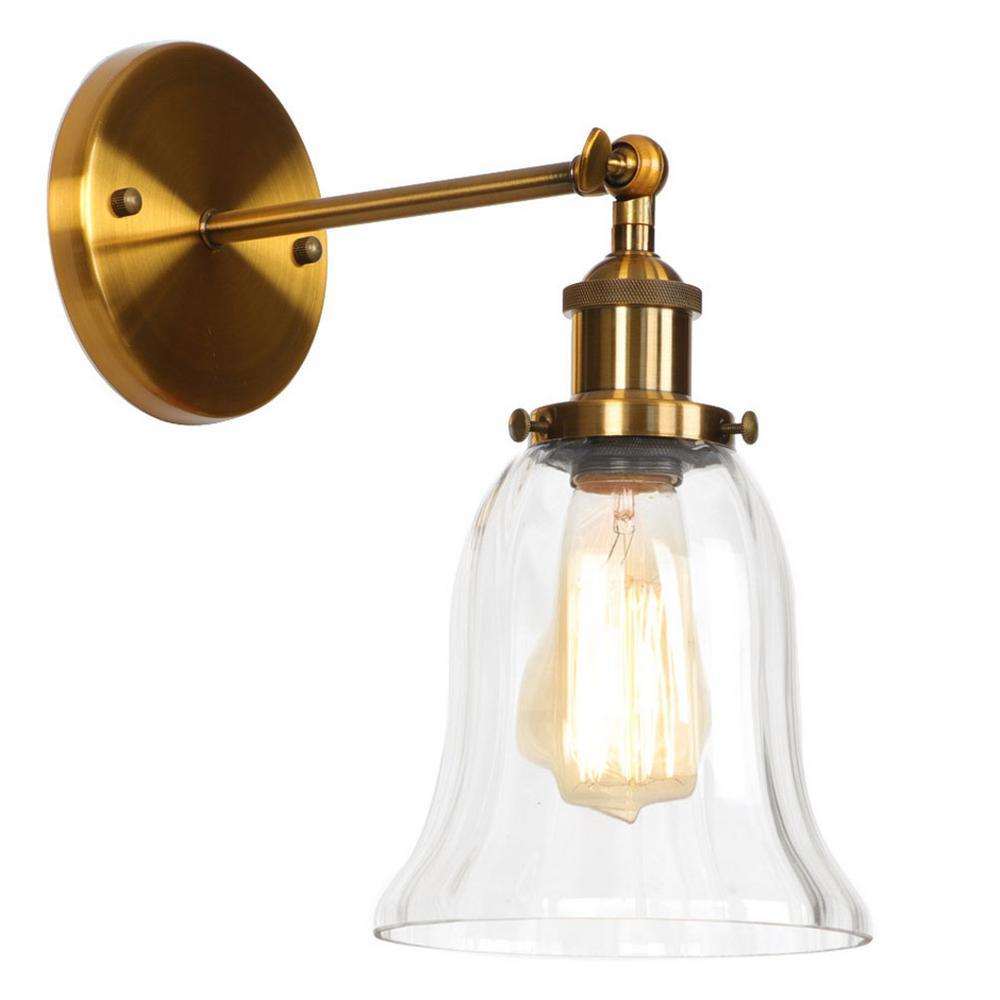 WEIS 1-Light Gold Swing Arm Light