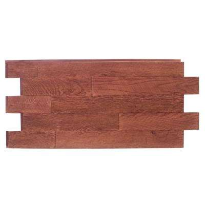 Faux Barnwood Panel 1-1/4 in. x 52.25 in. x 23 in. Mahogany Polyurethane Interlocking Panel