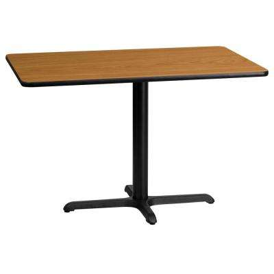 24 in. x 42 in. Rectangular Natural Laminate Table Top with 22 in. x 30 in. Table Height Base