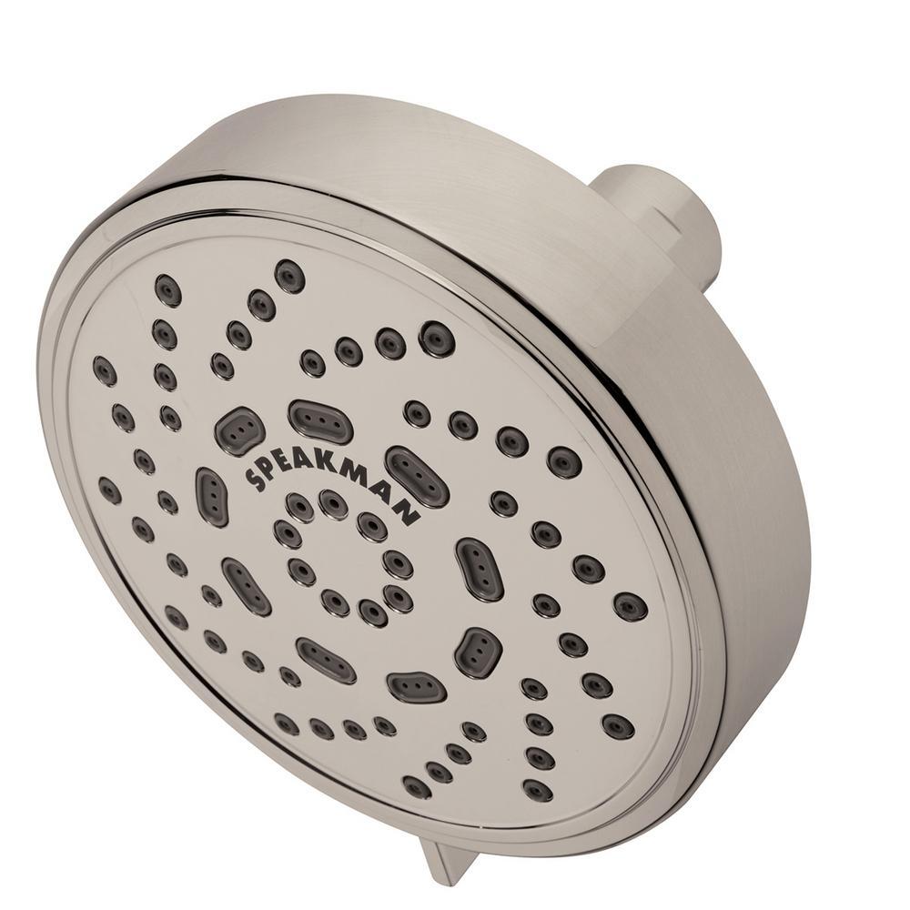 Speakman Echo 3-Spray 4.38 in. Fixed Round Showerhead in Brushed Nickel