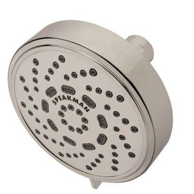 Echo 3-Spray 4.38 in. Fixed Round Showerhead in Brushed Nickel