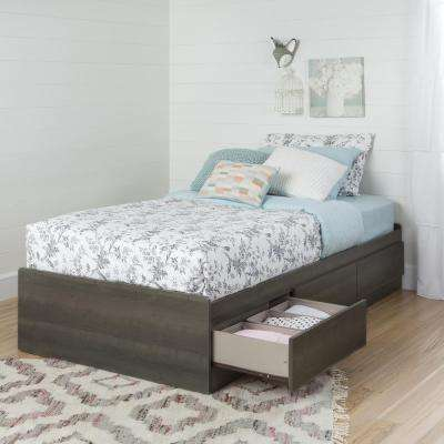 Savannah 3-Drawer Gray Maple Twin-Size Storage Bed