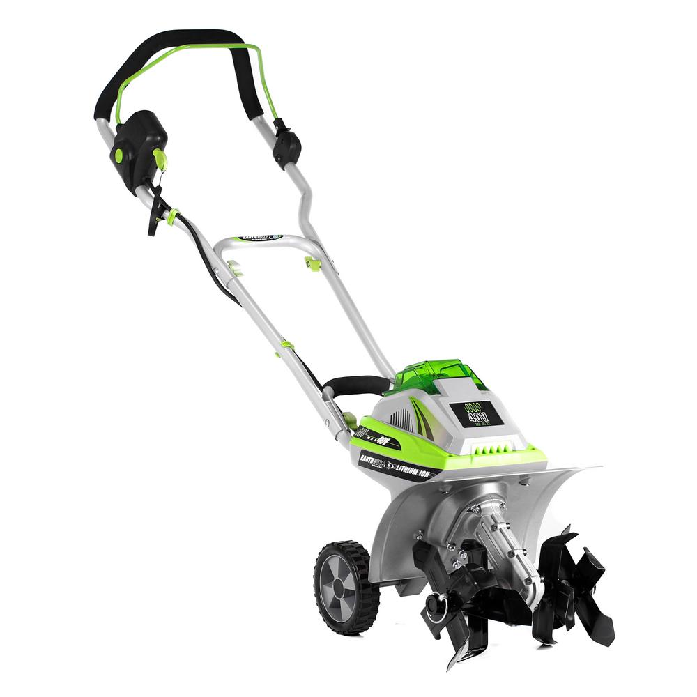 Earthwise 11 In 40 Volt 4 0 Ah Electric Cordless Tiller Cultivator Tc70040 The Home Depot