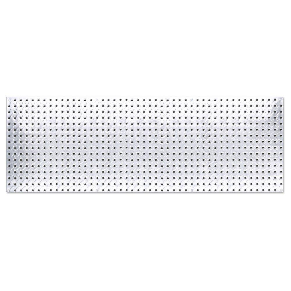 Knape & Vogt 16 in. x 48 in. Diamond Plate Galvanized Steel Pegboard
