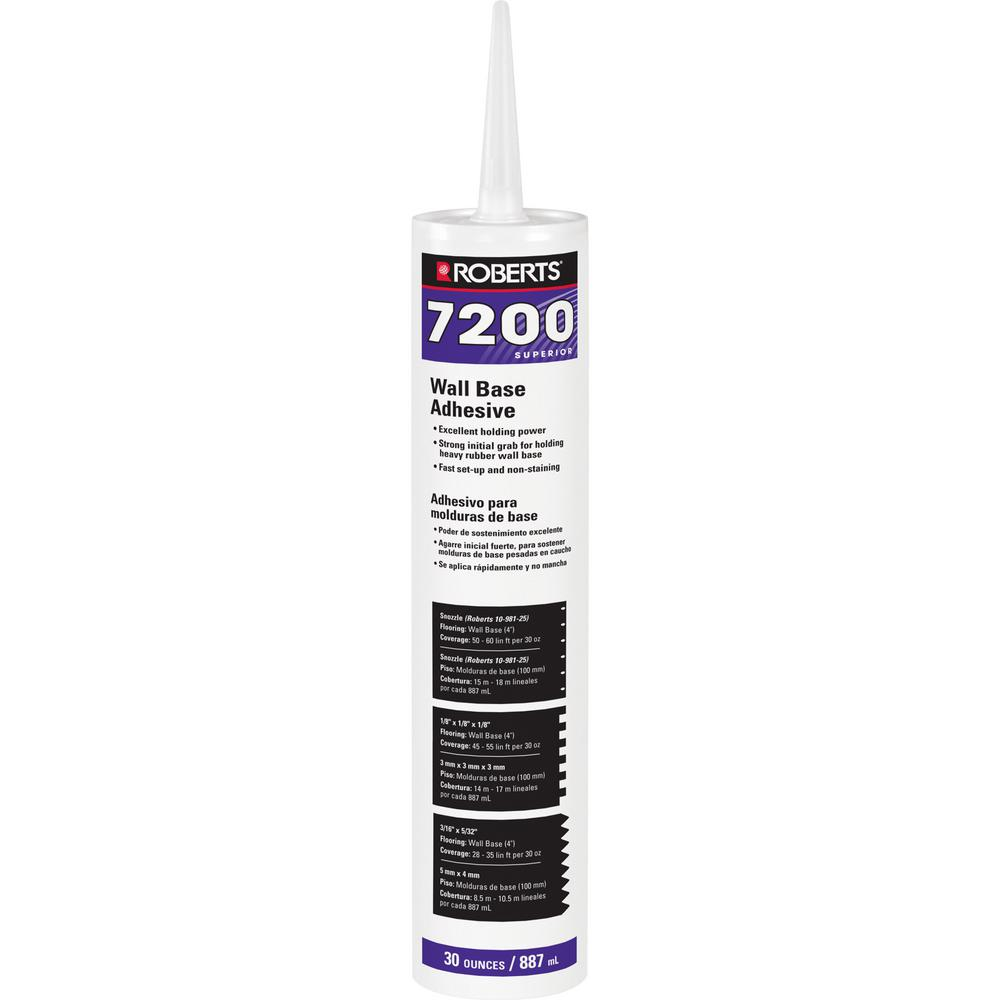 Roberts 7200 30 Fl Oz Wall And Cove Base Adhesive In