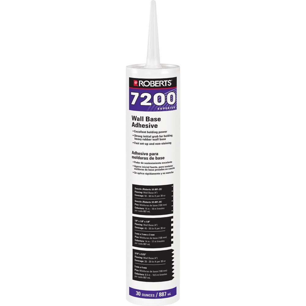 7200 30 fl. oz. Wall and Cove Base Adhesive in Cartridge Tube