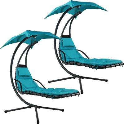 Blue Outdoor Chaise Lounges Patio Chairs The Home Depot