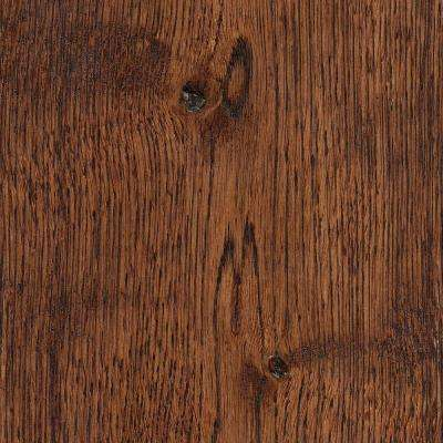 Take Home Sample - Wire Brushed Gunstock Oak Hardwood Flooring - 5 in. x 7 in.