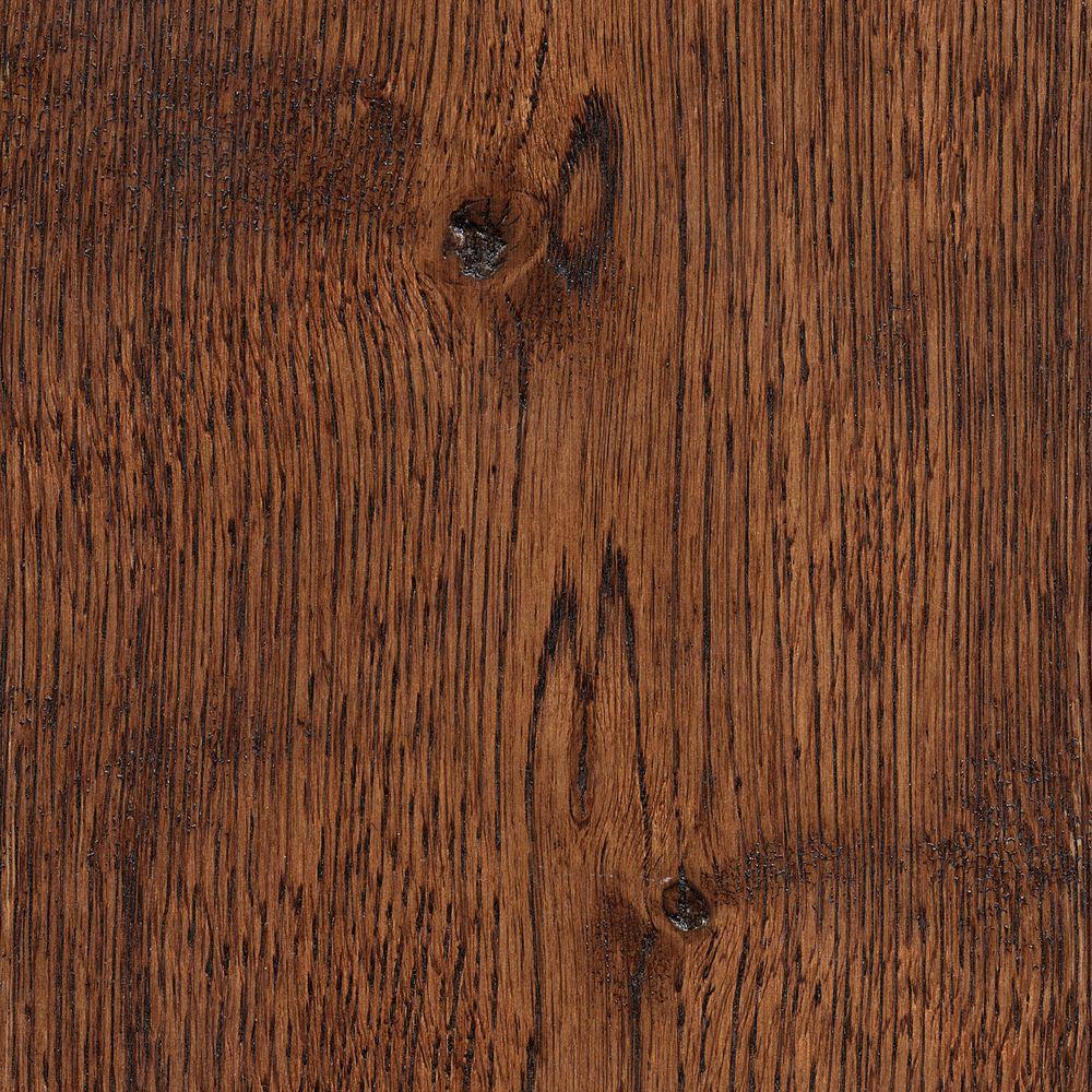 Take Home Sample - Wire Brushed Gunstock Oak Hardwood Flooring - 5 in. x 7 in.