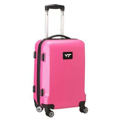 NCAA Virginia Tech 21 in. Pink Carry-On Hardcase Spinner Suitcase