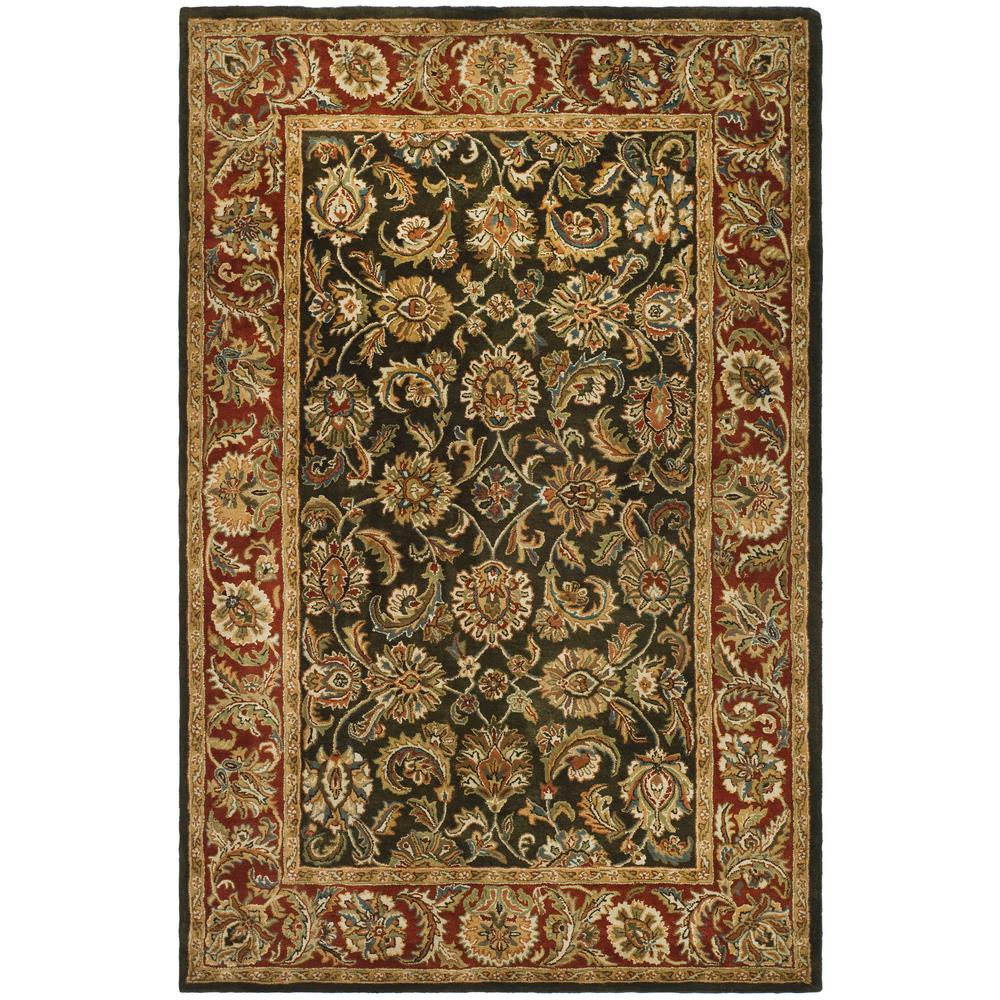 Classic Dark Olive/Red 4 ft. x 6 ft. Area Rug