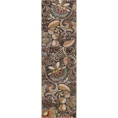 Capri Brown 2 ft. x 10 ft. Runner Rug