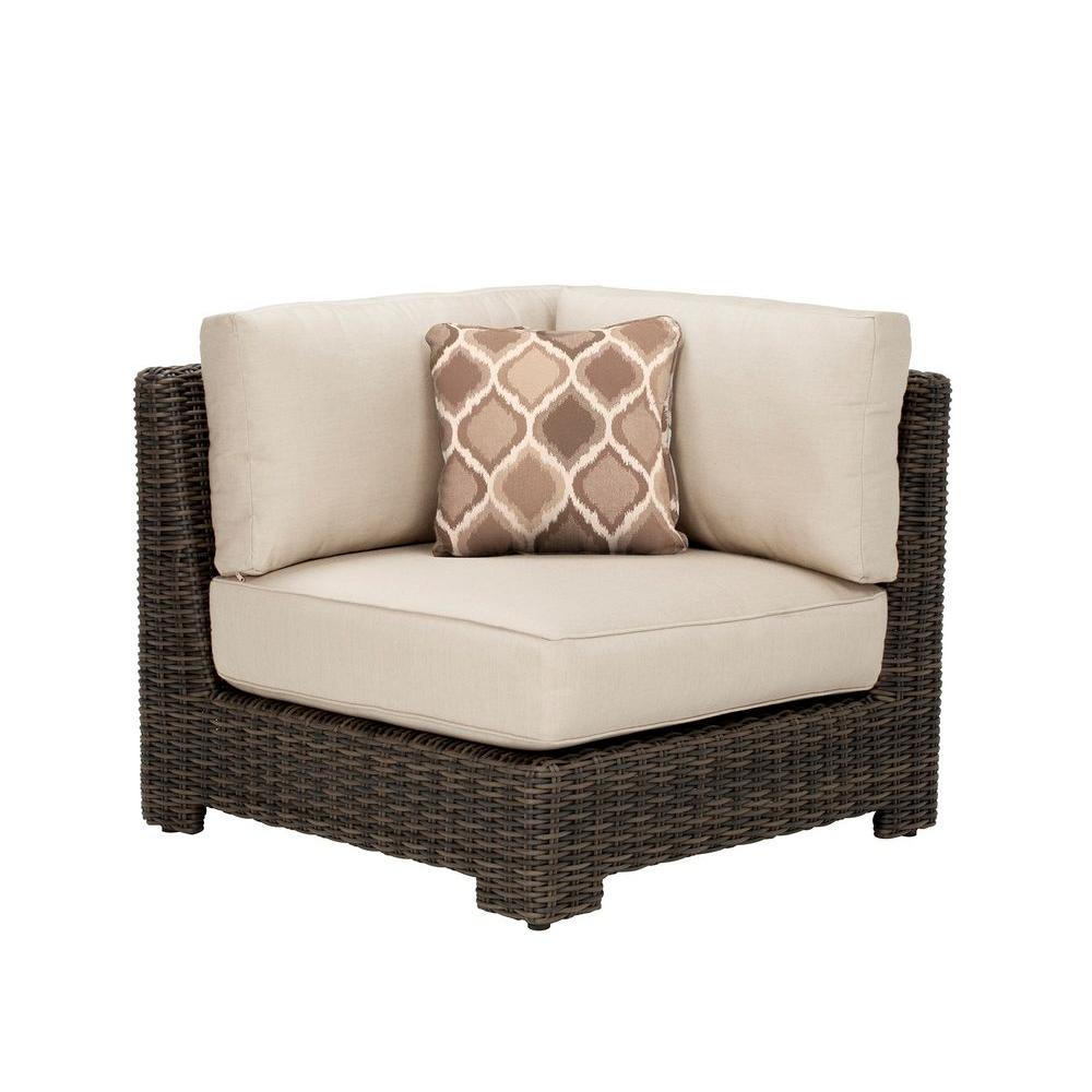 Brown Jordan Northshore Corner Patio Sectional Chair with Sparrow ...