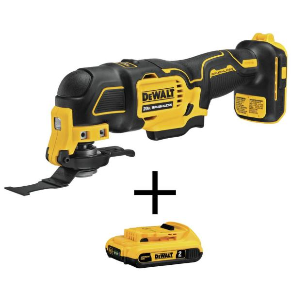 ATOMIC 20-Volt MAX Lithium-Ion Brushless Cordless Oscillating Multi-Tool with 20V MAX 2.0Ah Battery